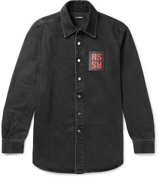 Raf Simons Logo-Appliqued Denim Shirt