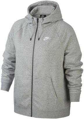 Nike Womens Sportswear Essentials Full Zip Hoodie Plus