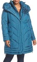 Gallery Plus Size Women's Pillow Collar Quilted Walker Coat