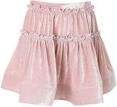 Alberta Ferretti gathered layered mini skirt - women - Silk/Viscose - 40