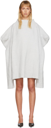 Christina SSENSE Exclusive Grey Knitted Cashmere Dress