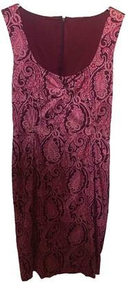 Dolce & Gabbana Burgundy Silk Dresses