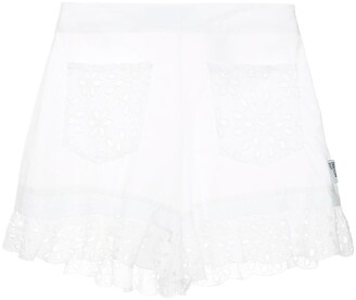 Love Moschino Broderie Anglaise Shorts