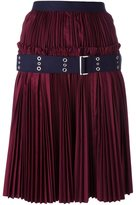 Sacai plissé pleated skirt - women - Cotton/Polyester - 4