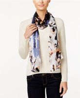 Vince Camuto Foliage and Blooms Silk Oblong Scarf