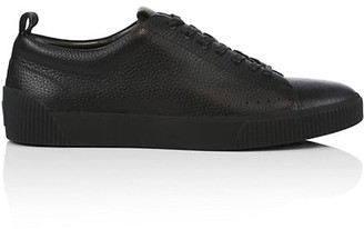 HUGO BOSS Pebbled Leather Tennis Sneakers