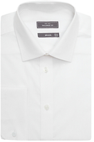 John Lewis Poplin Long Sleeve Tailored Fit Shirt, White