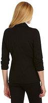 Chaus Ruched-Sleeve 2-Pocket Blazer