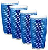 Kraftware Fishnet 24 oz. Double Wall Drinkware - Set of 4
