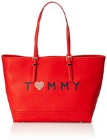 Tommy Hilfiger Honey Ew Tote Love Tommy, Women's Tote, Rot (Fiery Red), 13 x 32 48 cm (wxhxd)