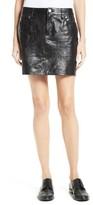 Frame Women's Leather Miniskirt