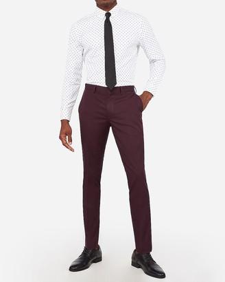 Express Extra Slim Merlot Cotton Sateen Stretch Suit Pant