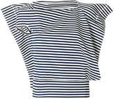 Junya Watanabe asymmetric striped blouse