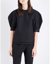 J.W.Anderson Puff-sleeved brushed cotton top