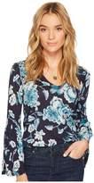 Lucky Brand Bell Sleeve Top Women's Long Sleeve Pullover