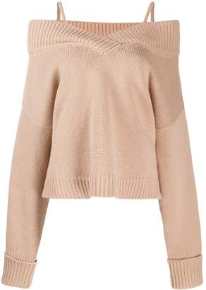 Maison Margiela off-shoulder knitted sweater