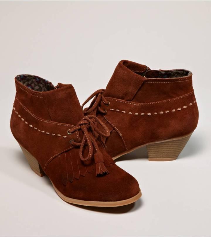 BC Footwear Braid Tassel Bootie