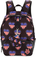 Love Moschino Cuori Canvas Backpack, Black