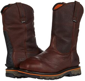 Timberland True Grit Pull-On Composite Safety Toe Waterproof Internal Met Guard (Brown Autumn Backtrack) Men's Boots