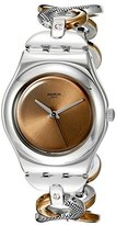 Swatch Women's YLS183G Analog Display Quartz Two Tone Watch
