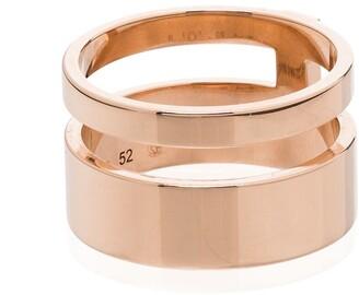Repossi 18kt rose gold Berbere double ring