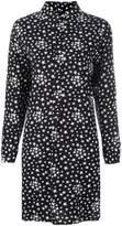 Saint Laurent star print shirt dress