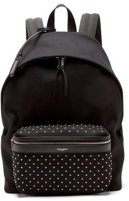 Saint Laurent City Studded Backpack - Mens - Black