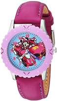 Disney Girl's 'Minnie Mouse' Quartz Stainless Steel Casual Watch, Color:Purple (Model: WDS000183)
