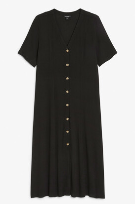 Monki Short sleeve buttoned dress