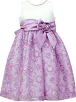 Jayne Copeland Satin Soutache Sequin Dress, Little Girls