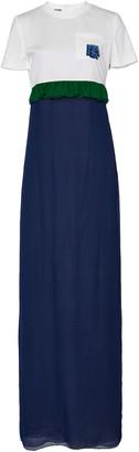 Prada Silk-Chiffon Maxi T-Shirt Dress