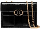 Tory Burch Gemini Link Patent Medium Chain Shoulder Bag