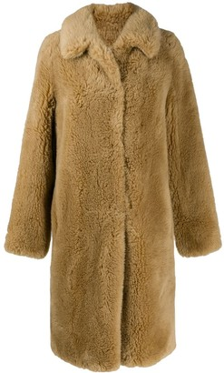 Yves Salomon Meteo Oversized Faux Fur Coat