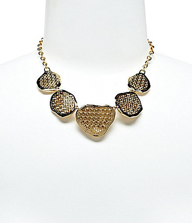 Nadri Polished Metal Frontal Necklace