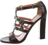 Alaia Leather Studded Sandals