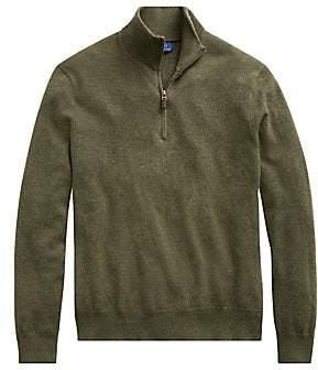 Polo Ralph Lauren Men's Loryelle Quarter-Zip Merino Wool Sweater