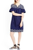 J.Crew Women's Bell Sleeve Fringe Dot Dress