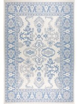 "Nicole Miller Bordered Gray/Blue Indoor/Outdoor Area Rug Rug Size: Rectangle 5'2"" x 7'2"""
