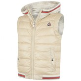 Moncler MonclerBoys Beige Down Padded & Jersey Gilet
