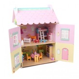 Le Toy Van Sweetheart Cottage Dolls House with Furniture