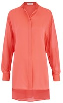 Amanda Wakeley Sinai Fluoro Pleat Shirt