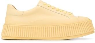 Jil Sander Platform Sole Low-Top Sneakers