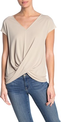 Double Zero V-Neck Twist Front T-Shirt