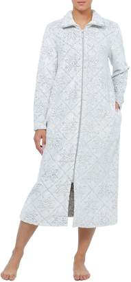 Jasmine Rose Vintage Textured Zip-Front Robe