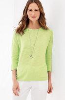 J. Jill Easy Linen & Cotton Pullover