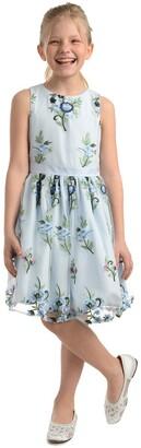 Badgley Mischka Embroidered Mesh Dress