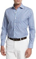 Peter Millar Belize Check Shirt, Turquoise