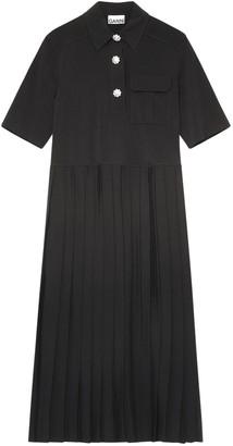 Ganni Suiting Shirt Midi Dress