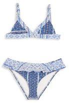 OndadeMar Little Girl's & Girl's Miranda Geometric & Floral Two-Piece Bikini