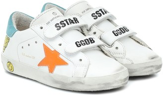 Golden Goose Kids Old School leather sneakers
